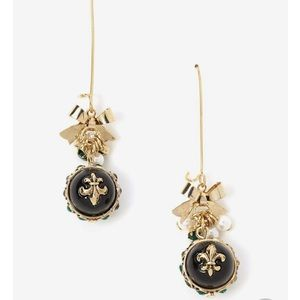 Fleur de Lis Betty Johnson Dangle Earrings